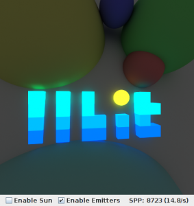 Path Tracing Applet Screenshot