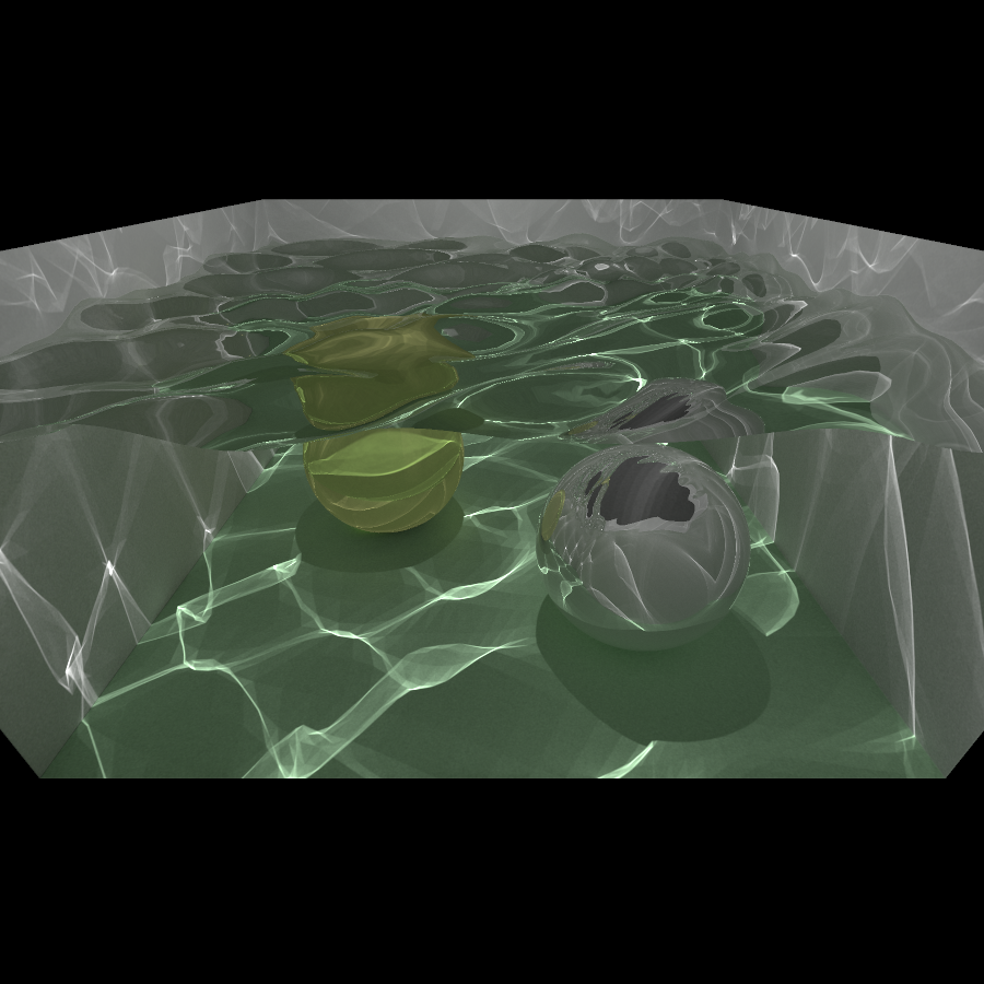 Image rendered using progressive photon mapping.